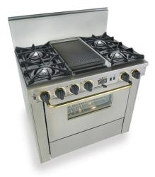 Brand: FiveStar, Model: TTN3257W, Color: Stainless Steel with Brass Package
