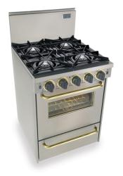 Brand: FiveStar, Model: TTN4807BSW, Color: Stainless Steel with Brass Package