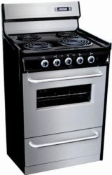 Brand: SUMMIT, Model: TEM230BKWY, Style: 30 Inch Freestanding Electric Range