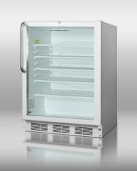 Brand: SUMMIT, Model: SCR600LCSSRC, Style: Stainless Cabinet/Handle