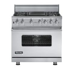 Brand: Viking, Model: VDSC5364QLE, Fuel Type: Stainless Steel, Natural Gas