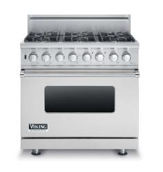 Brand: Viking, Model: VDSC5366BLE, Fuel Type: Stainless Steel, Natural Gas