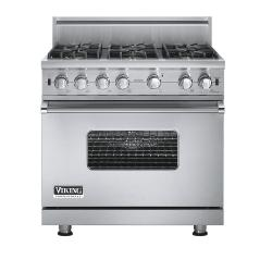 Brand: Viking, Model: VGCC5366BBKLP, Fuel Type: Stainless Steel - Natural Gas