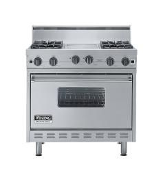 Brand: Viking, Model: VGIC3664QRR, Color: Stainless Steel