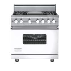Brand: Viking, Model: VGSC5364GVBLP, Fuel Type: White - Natural Gas