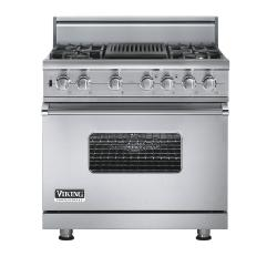 Brand: Viking, Model: VGSC5364QBULP, Fuel Type: Stainless Steel - Natural Gas