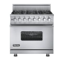 Brand: Viking, Model: VGSC5366BWHBR, Fuel Type: Stainless Steel - Natural Gas