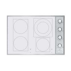 Brand: Viking, Model: VECU1064BSBBR, Color: White Glass and Knobs