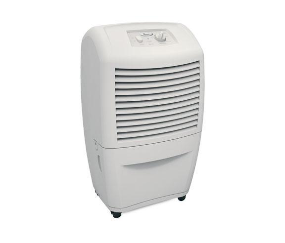 Whirlpool Ad50dss 50 Pint Capacity Basement Dehumidifier With Manual Controls 50 Pint Capacity