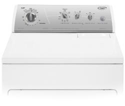 Brand: Whirlpool, Model: GEW9878PG, Color: White with Silver Metallic Console
