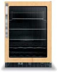 Brand: Viking, Model: DFUR140F, Style: Fluted Glass Door with Black Interior