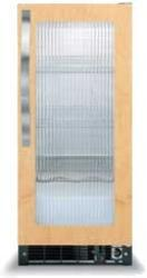 Brand: Viking, Model: DFUR151, Style: Fluted Glass Door with White Interior