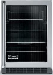 Brand: Viking, Model: VUAR143FSS, Style: Fluted Glass Door with Black Interior