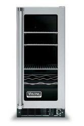 Brand: Viking, Model: VUAR150SS, Style: Clear Glass Door with Black Interior