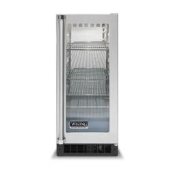 Brand: Viking, Model: VUAR150SS, Style: Clear Glass Door with White Interior