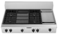 Brand: KITCHENAID, Model: KGCP483KSS, Style: 4 Burners with Griddle & Grill