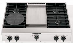 Brand: KITCHENAID, Model: , Style: 4 Burners with Griddle