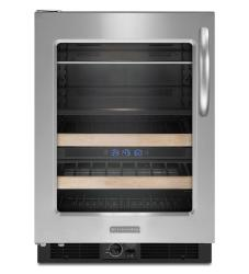 Brand: KITCHENAID, Model: KBCS24S, Style: Left-Swing Door/Black-on-Stainless