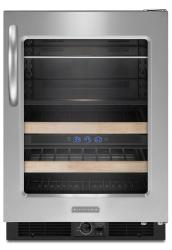 Brand: KitchenAid, Model: KBCS24RSSS, Style: Right-Swing Door/Black-on-Stainless