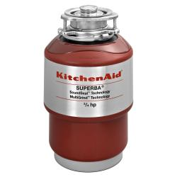 Brand: KITCHENAID, Model: KCDS075T, Style: 3/4 HP Continuous Feed Waste Disposer