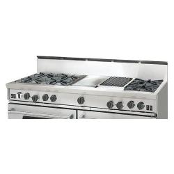 Brand: Bluestar, Model: RGTNB606FTBSS, Style: 8 Burners and 12-In. Charbroiler