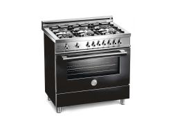 Brand: Bertazzoni, Model: X366GGVGILP, Color: Black, Natural Gas
