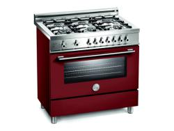 Brand: Bertazzoni, Model: X366GGVVE, Color: Burgundy, Natural Gas