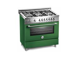 Brand: Bertazzoni, Model: X366GGVVE, Color: Green, Natural Gas