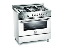Brand: Bertazzoni, Model: X366GGVGILP, Color: Pure White, Natural Gas