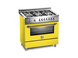 Brand: Bertazzoni, Model: X366GGVVE, Color: Yellow, Natural Gas