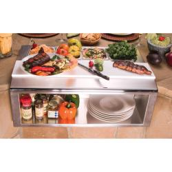 Brand: Alfresco, Model: APS30P, Style: Built-in Garnish Rail and Plate Shelf