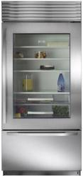 Brand: Sub Zero, Model: BI36UGO, Style: Stainless Steel with Tubular Handles