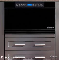 Brand: Dacor, Model: MMD30B, Color: Black Glass with Vertical Stainless Steel Trim