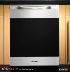 Brand: Dacor, Model: MDV24, Style: Stainless Steel with Horizontal Black Glass Trim