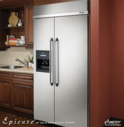 Brand: Dacor, Model: EF48DBSS, Color: Stainless Steel with Ice/Water Dispenser