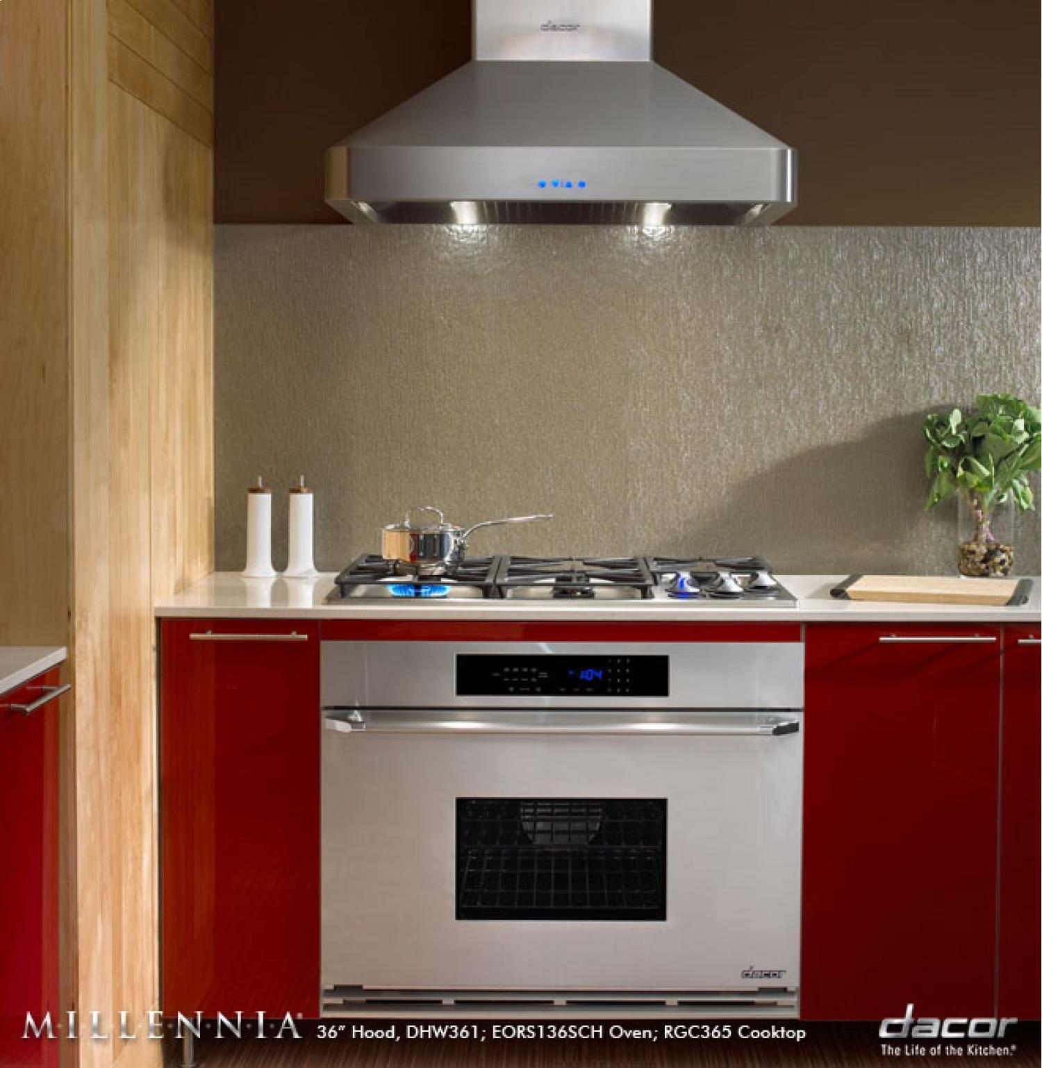 Dacor Dhw361 36 Quot Wall Mount Chimney Range Hood With 600