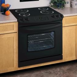 Brand: FRIGIDAIRE, Model: FED355ES, Color: Black on Black