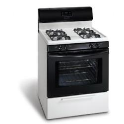 Brand: Frigidaire, Model: FGF337GW, Color: White on Black