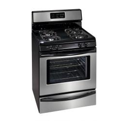 Brand: FRIGIDAIRE, Model: FGF368GC, Color: Black with Stainless Steel Door and Trim
