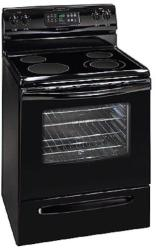 Brand: FRIGIDAIRE, Model: GLEF369DQ, Color: Black on Black
