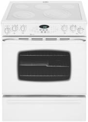 Brand: MAYTAG, Model: MES5875BA, Color: Frost White