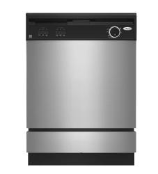 Brand: Whirlpool, Model: DU850SWPB, Color: Black Console on Stainless Steel Panel