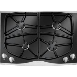 Brand: Jennair, Model: JGC9430BD, Color: Black with Stainless Trim