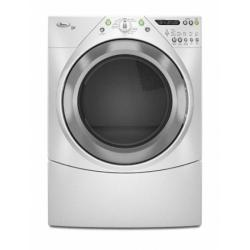 Brand: Whirlpool, Model: WED9400VE, Color: White with Brushed Chrome Accents