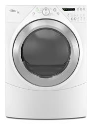 Brand: Whirlpool, Model: WED9500TW, Color: White with Brushed Chrome Accents