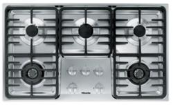 Brand: MIELE, Model: KM3475GSS, Fuel Type: Contemporary Linear Grate Design/LP Gas