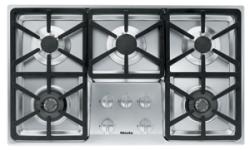 Brand: MIELE, Model: KM3474LPSS, Fuel Type: Hexa Grate Design/Natural Gas