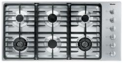Brand: MIELE, Model: KM3484GSS, Fuel Type: Contemporary Linear Grate Design/LP Gas