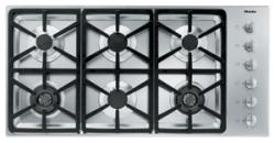 Brand: MIELE, Model: KM3484LPSS, Fuel Type: Hexa Grate Design/Natural Gas