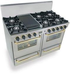 Brand: FiveStar, Model: TPN5107BW, Color: Stainless Steel with Brass Package